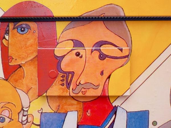 Street Art on a City of Hamilton Box on King Street East by TimothyDMorton