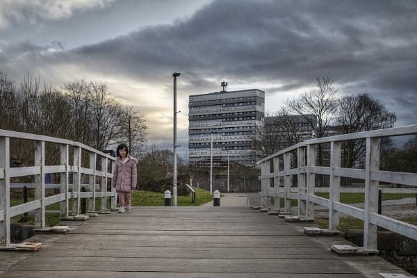 Girl on the Bridge, Glasgow by AndrewAlbert