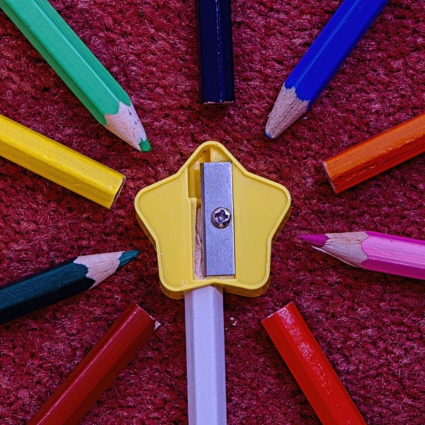 Colour Pencils and sharpener by ugly