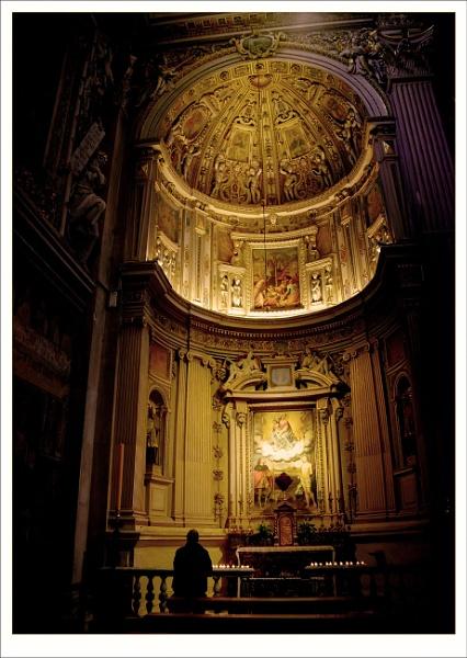 Basilica of Santa Maria Maggiore in Citta Alta in Bergamo, Italy by Robert51