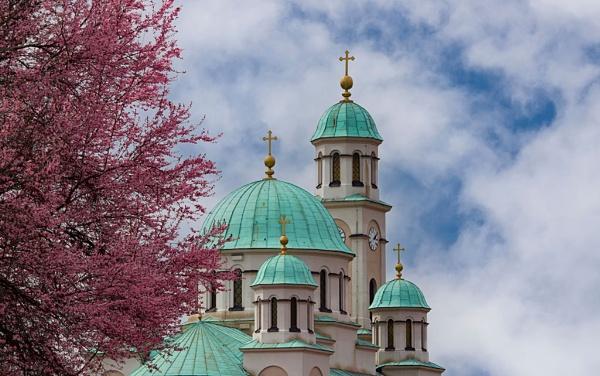 Orthodox church in spring by LaoCe