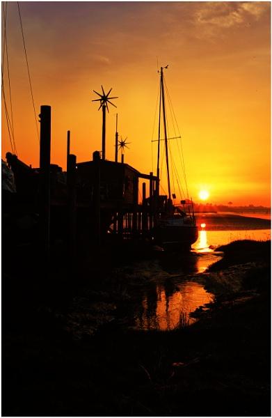Skippool creek boat silhouette! by Jas2
