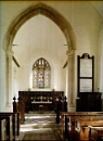 Interior, St Andrews and All Saints. Willingale, ESSEX