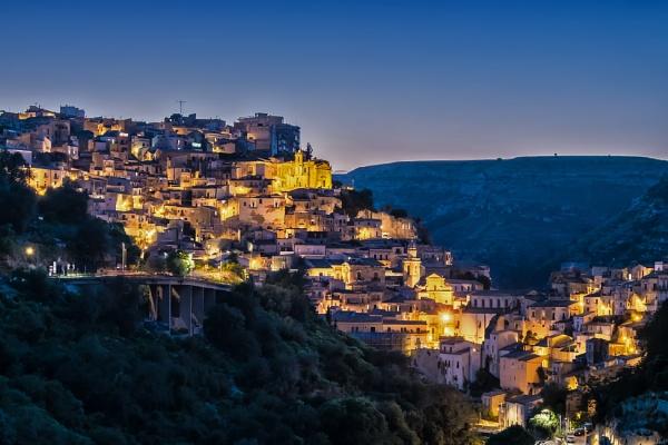 Blue Hour at Ragusa Ibla by Xandru