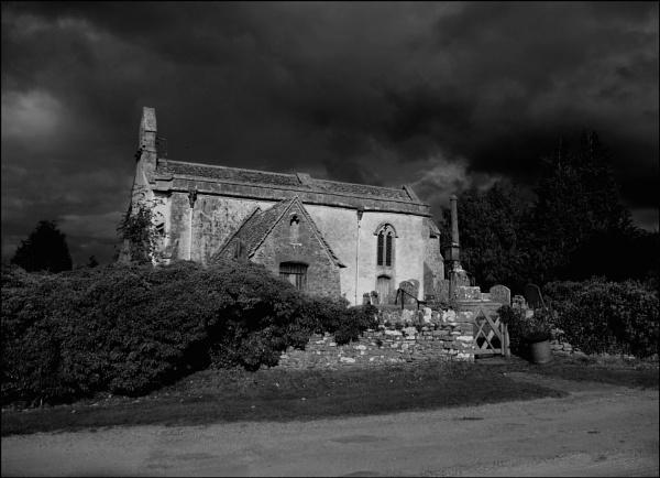 Storm clouds over St.John the Baptist church,Inglesham. by niknakpaddywhack