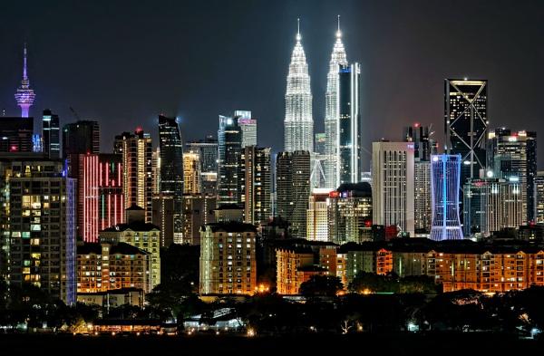 Kuala Lumpur evening skyline 2 by sawsengee