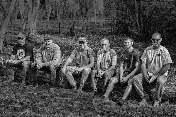 Six guys o a log by jbsaladino