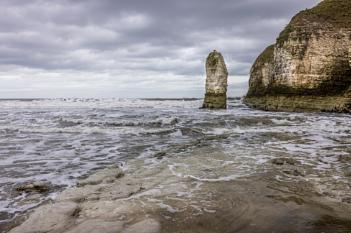 Sea stack at Flamborough head