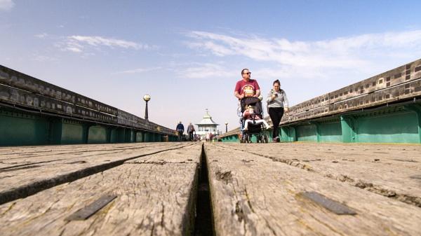A walk along Clevedon Pier by cmiller