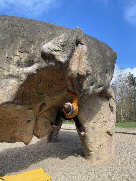 Bouldering Girl Whickham Thorns Gateshead by topcatj