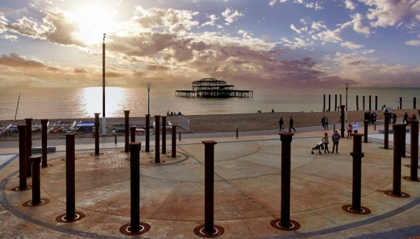 The old West Pier at Brighton by sandwedge