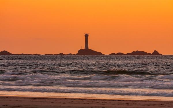 Longships Lighthouse at Sunset by flatfoot471