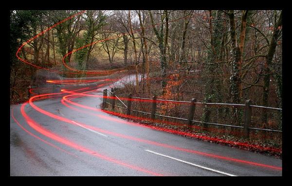 Cwm Light Trail by glyndwr