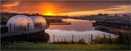 Sunrise Over COVID Domes