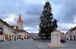 Cisnadie City in Winter