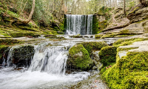 Nant Mill Woods Waterfall by roge21