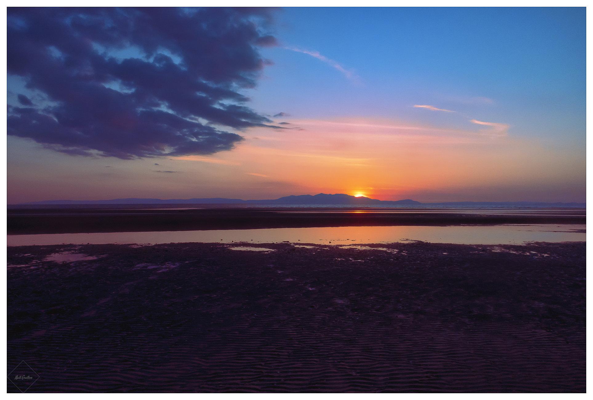 Sunset over Arran 3