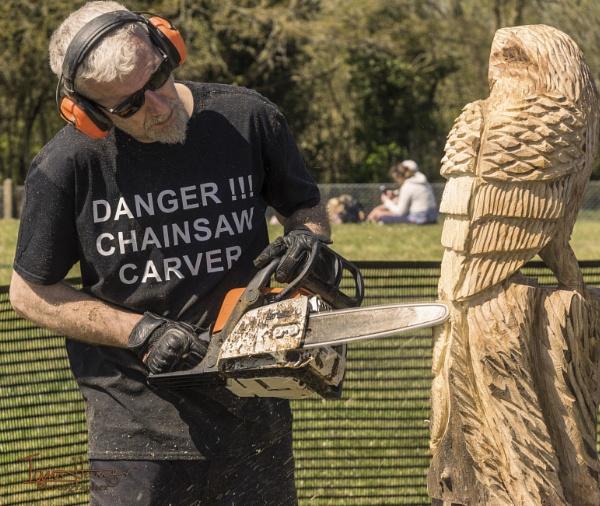 Chainsaw Sculptor by IainHamer