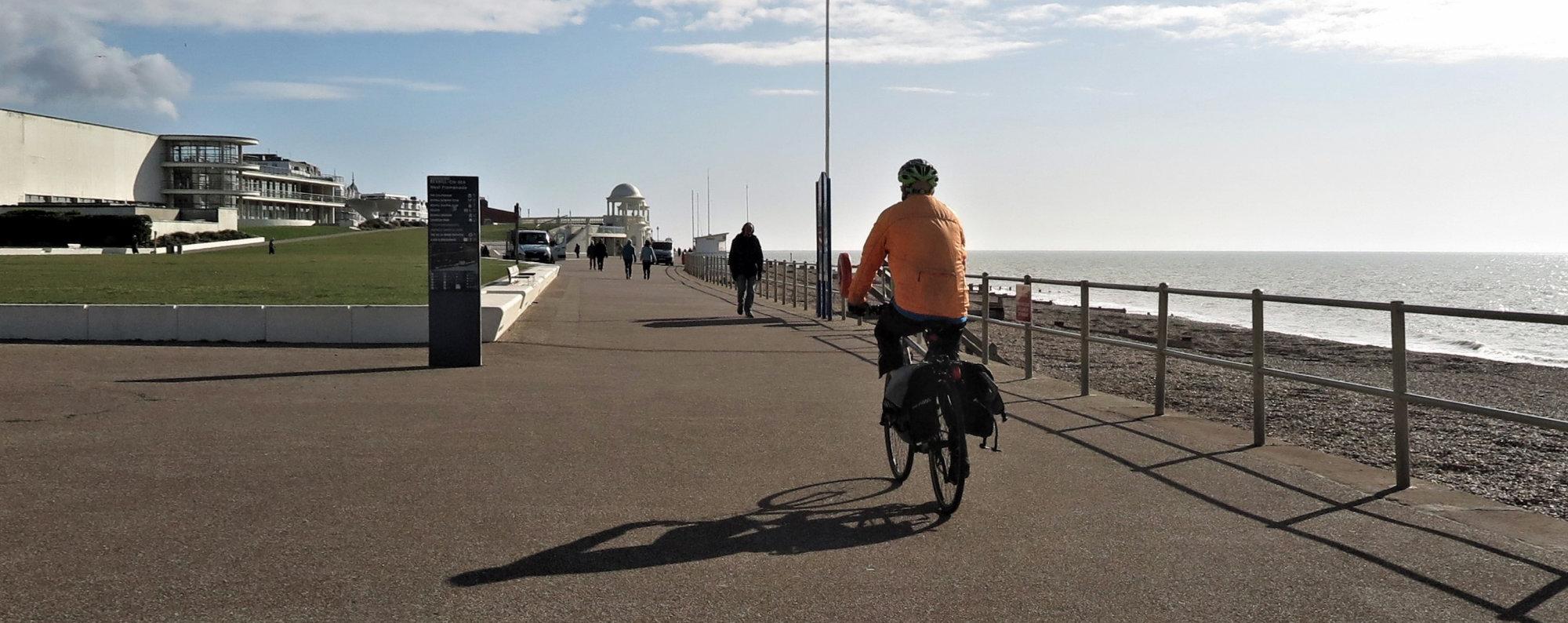 Shadows, cycling East.