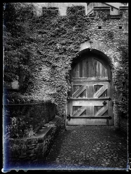 The West Gate, Cardiff Castle, abandon hope all ye who enter here. by Richardjwills
