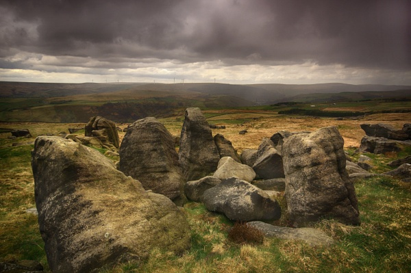 Approaching Rain on The Bridestones by iangilmour