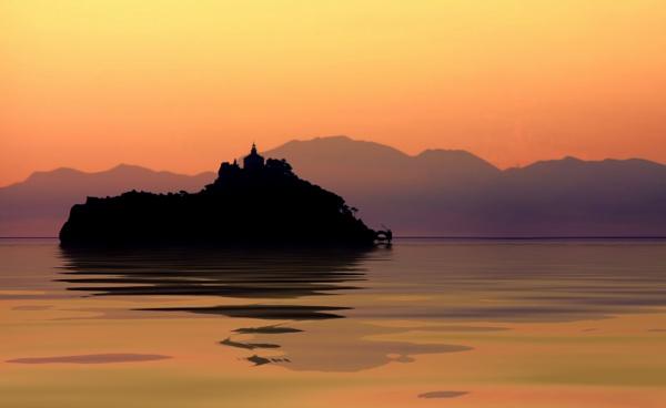 Island off the Dalmatian Coast by sandwedge