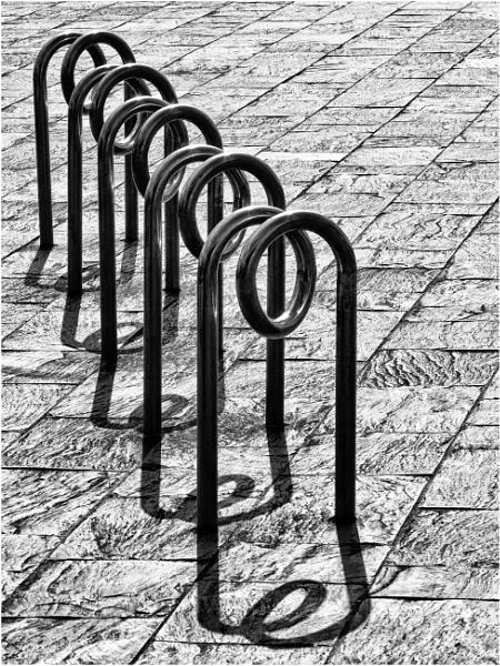A bicycle rack. by franken