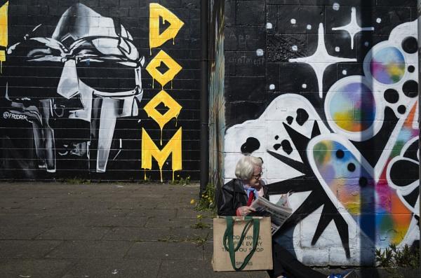 Glasgow, MF Doom Memorial by AndrewAlbert