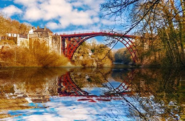 Iron Bridge Reflection by mmart