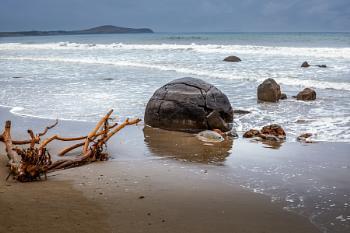 Moeraki Boulders in the Southern Island of New Zealand