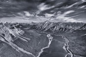 Looking down on the Rockies