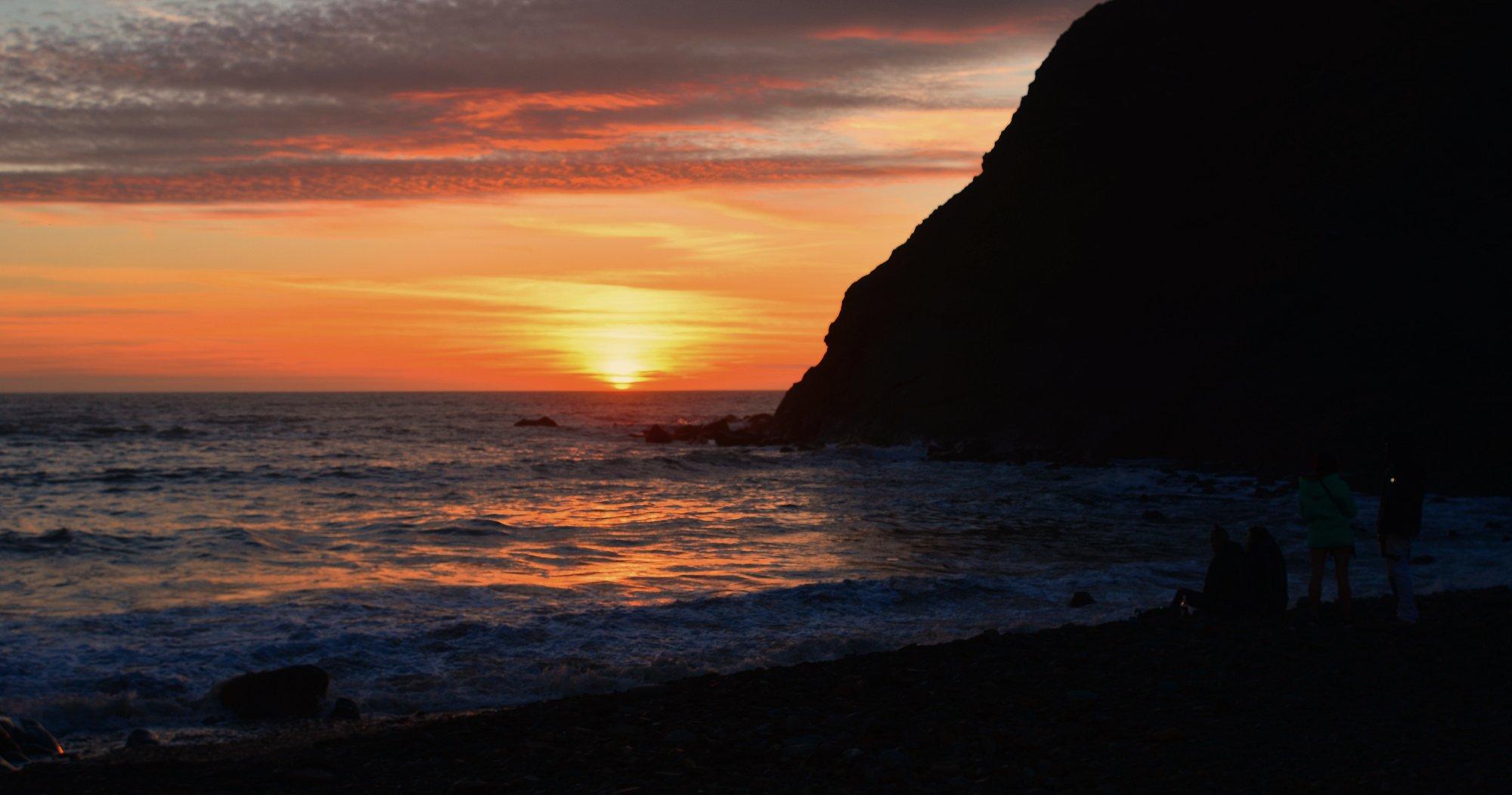 sun set over the Atlantic