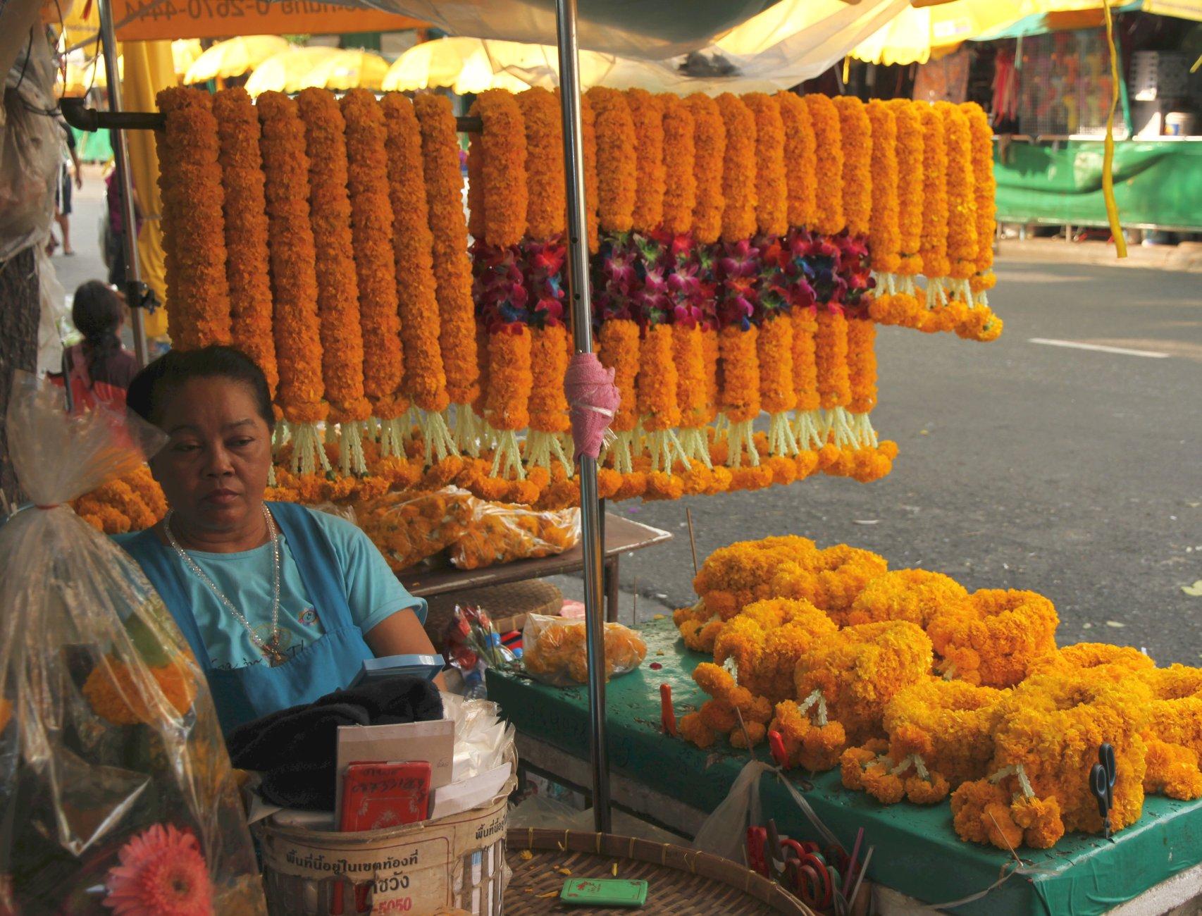 Temple flower vendor