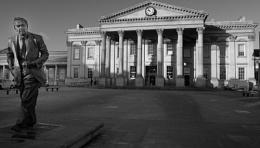 x PM Harold Wilson and Huddersfield  Railway Station