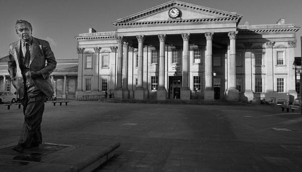 x PM Harold Wilson and Huddersfield  Railway Station by robertsnikon