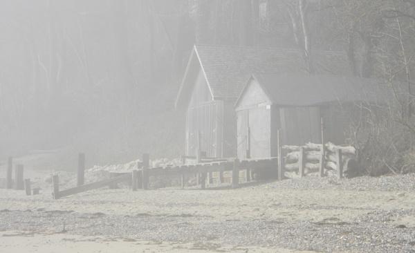 Foggy Boathouses by TribuneXL