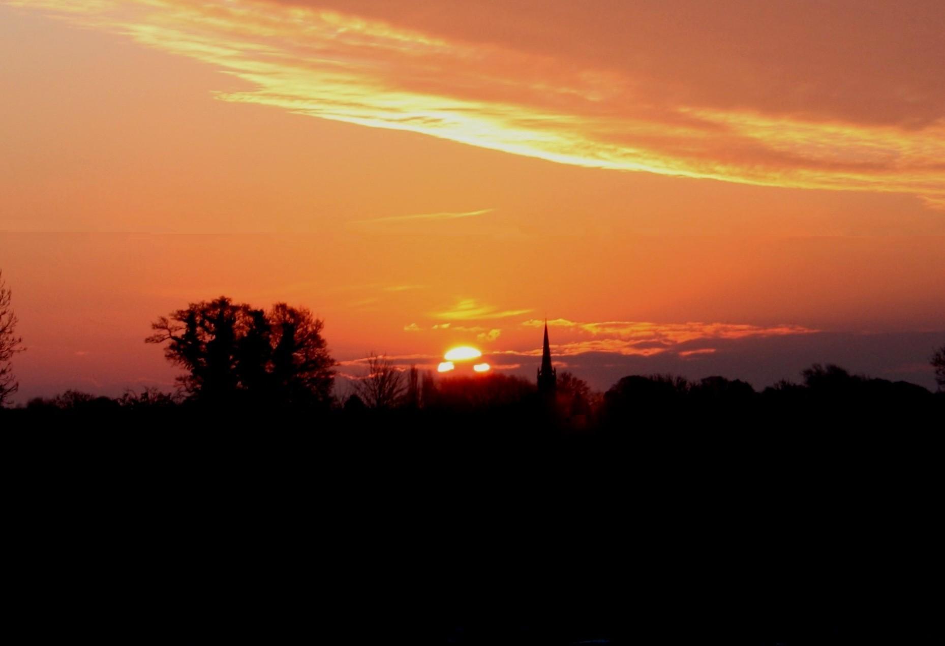 Sunrise over Newton on Ouse