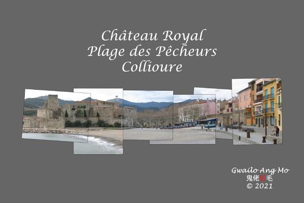 Le château royal et Plage des Pêcheurs, Collioure, dimanche 26 janvier 2003 (version 1) by GwailoAngMo