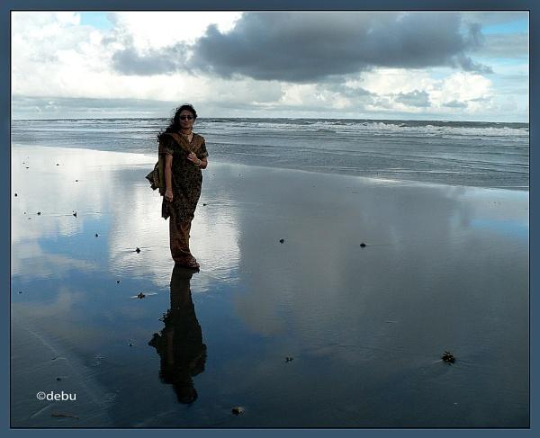 Woman Water Reflection by debu