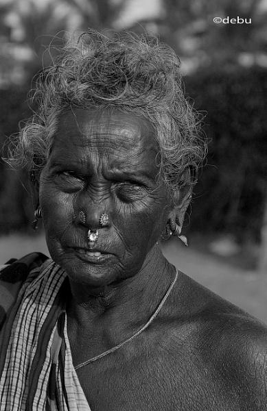 Woman face ornament by debu