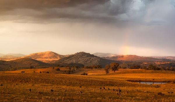 Fading Rainbow at Sunset, Uriarra by BobinAus