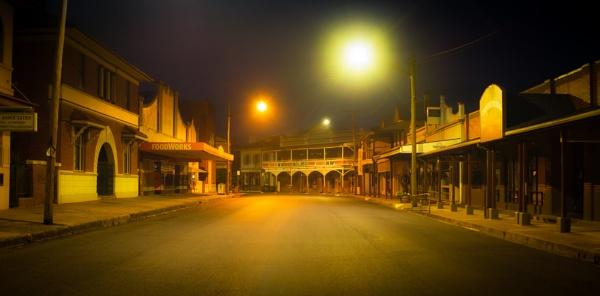 Village centre before dawn, Canowindra by BobinAus