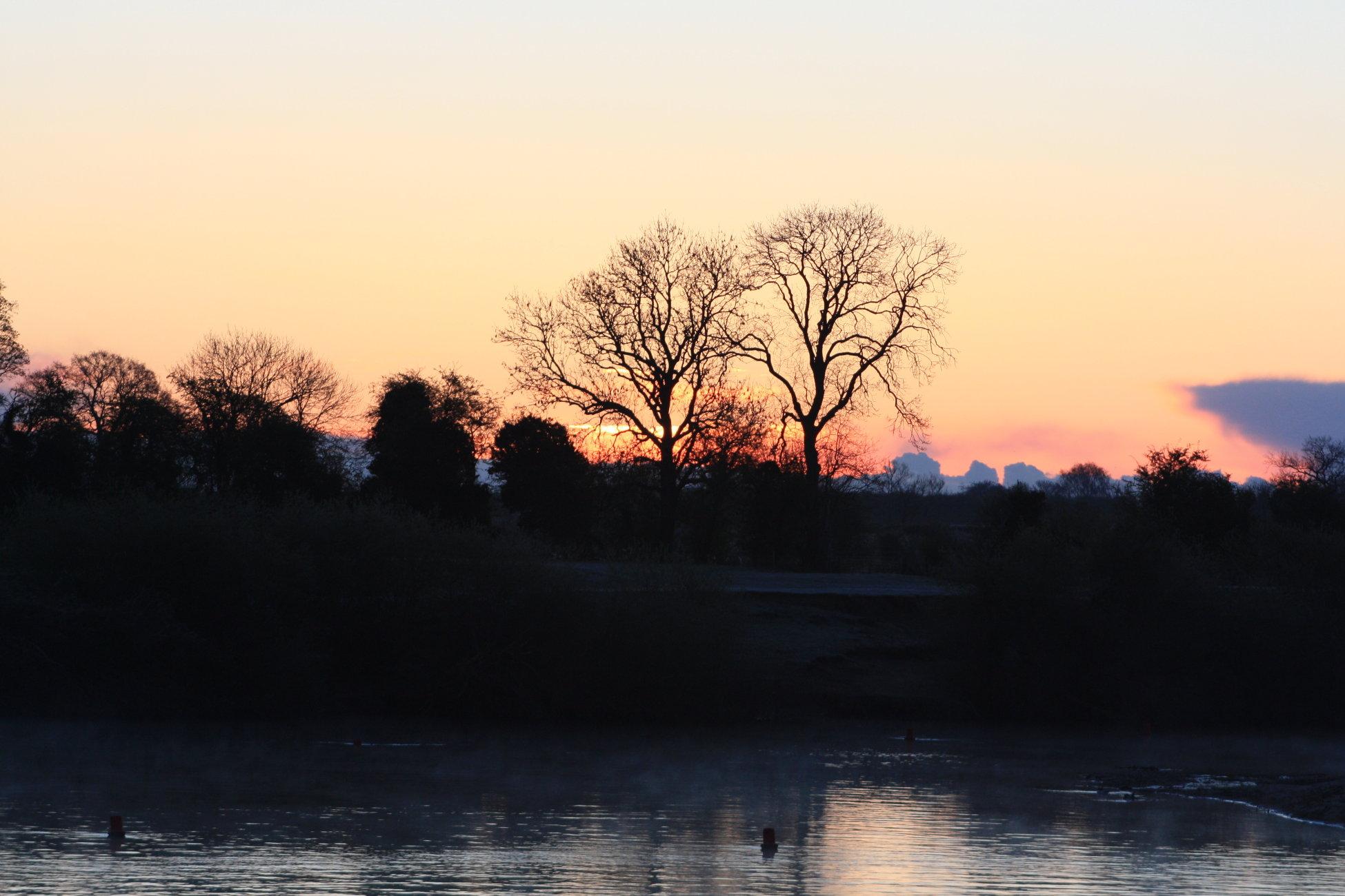 Sunrise over Linton Lock