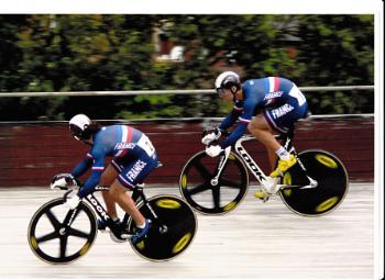 Track Sprinting, Meadowbank Velodrome, Edinburgh.