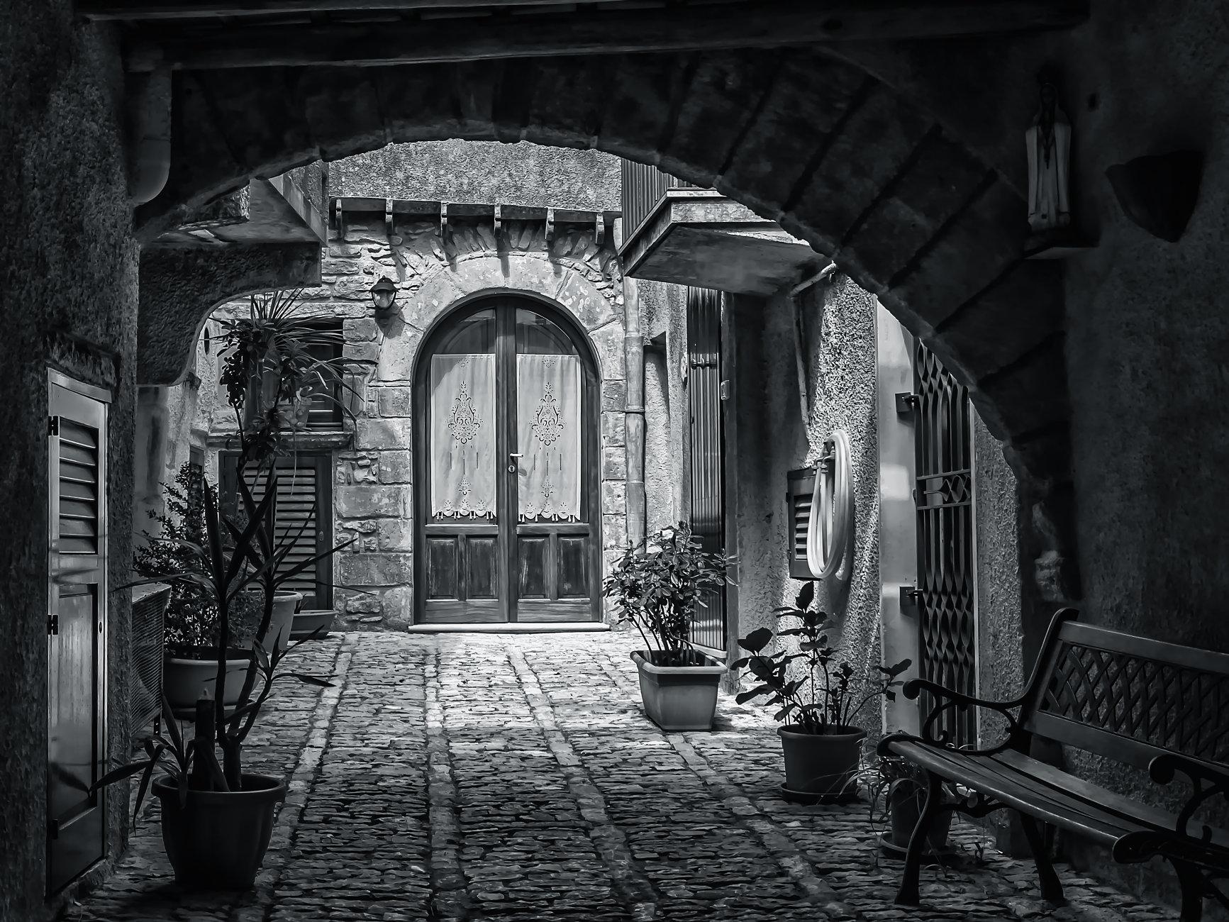 A Courtyard In Erice