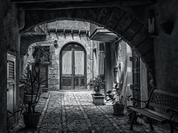 A Courtyard In Erice