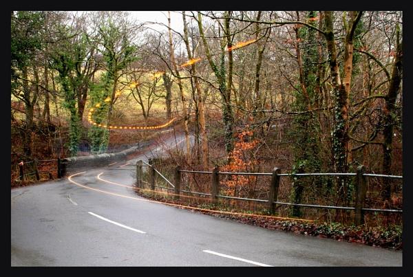 Cwm Light Trails - Tractor by glyndwr
