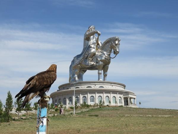 Statue of Genghis Khan, Mongolia by davek