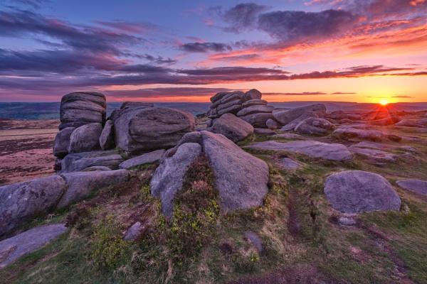 Higger Tor Sunset by DaveShandley
