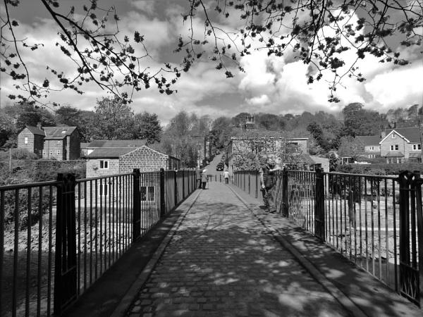 River Aire footbridge by cookyphil